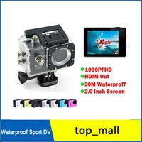 Wholesale Waterproof Camcorders SJ4000 style D001 Inch LCD Screen Full HD HDMI Action Camera M SJcam Helmet Sport DV Car DVR by DHL R