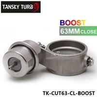 Wholesale Tansky High performance NEW Boost Activated Exhaust Cutout Dump MM CLOSED Style Pressure about BAR TK CUT63 CL BOOST