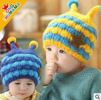 bee protection hat - 2015 Baby Girl Boy Bee Protection Ear Crochet Hat Children Handmade Crochet Hat Handmade Bee Kids Hand Knitted Hat