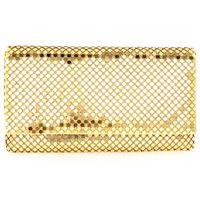 aluminum envelopes - DC1989 Best Selling Clutches MM Aluminum Mesh Women Envelope Bag Party Fashion Casual Women s Evening Bag cm Long Chain