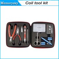 Cheap hot sale Authentic Coil tool kit Ceramic Tweezers Coil jig Ohmmeter Japanese Cotton DIY Kit For RDA RBA RDTA Atomizer Rebuild Vape 002791