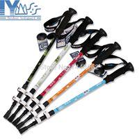 Cheap Wholesale-Aluminium EVA handle climbing sticks nordic trekking hiking poles walking sticks with quick lock