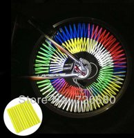 bicycle stripe sticker - Fashion Colorful Bicycle Wheel Spoke Reflectors Safety Sticker Tape Decal Bike Spoke Reflective Stripes