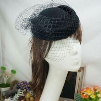 Wholesale Ivory Red Black Vintage Multi Color Perfect Birdcage Headpiece Head Veil Wedding Bridal Accessories Bride Hat S