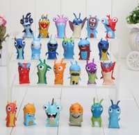 Wholesale 24pcs set cm Mini Slugterra PVC Action Figures Toys Dolls Child Toys