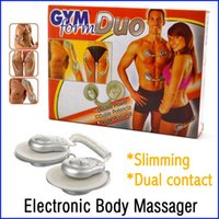 Cheap GYM Duo Form Muscle Stimulation Massager Cheap Electronic Body Massager Drop+Free Shipping