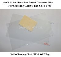 Cheap 200PCS By DHL Fedex For Samsung Galaxy Tab S 8.4 Clear Screen Protector,Ultrathin Guard Film For Galaxy TabS 8.4 T700