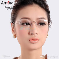 beta females - Pure beta titanium rimless glasses myopia glasses female eye box frames glasses frame myopia Women ultra light