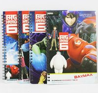 Wholesale Big Hero Notepads Note Book cm Baymax Hiro Fred Go Go Wasabi Lemon Character Note Pad Gift For Children DHL free order lt n