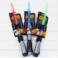 Wholesale Star Wars Lightsaber LED Light Saber Telescopic Cosplay Star Wars Weapons Sword with Light and Sounds PVC Action Figure Toys