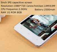 Wholesale 5 inch Touch Screen Android MTK6582 Quad Core G RAM G ROM Single Sim Cards WIFI G Smart