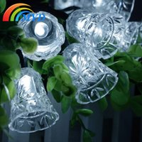 bell jar light - Hot sale holiday LED Solar Power bell shape string light Outdoor Garden light Valentine s Day Party Deco Lamp