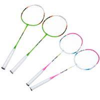 Wholesale 1 Pair Badminton Rackets Carbon Fiber Aluminum Alloy Badminton Racket Racquet with Carry Bag Lightweight Durable Sport Equipment