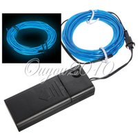 Wholesale New M Multicolor EL Wire Tube Rope Battery Powered Flexible Neon Light Car Party Decor With Controller