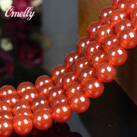 Wholesale 5A Grade Red Agate Natural Semi Precious Bead Jewelry Beads Gemstone DIY Bead for Bracelet Necklace High Quality Loose Beads
