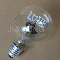 ac coffee - Decoration Bulb LOVE E27 W AC V Vintage Incandescent Bulb For Decoration Bar KTV Coffee Shop Christmas Party
