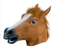 accoutrements horse head mask - New Horse Head Mask Party Accoutrements Halloween Costume More Color Party Novelty Latex Rubber Theater Prop