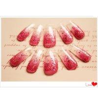 Gros-100pcs / set faux ongle Dual System Formulaire des clous pour Nail Art acrylique UV GEL Conseils Mold Decoration Conseils de faux ongles