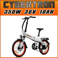Wholesale Four Gifts Addmotor CYBERTRON E bike C350 Platinum White Folding Stelth Battery Luggage Rack E bike W V AH quot Electric Bicycle