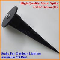 Aluminum aluminum stake - 15X Lamp Metal Stake for LED Flood Light Lamp Rod LED Garden Lawn Light Spike for Outdoor Landscape Lighting