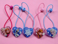 Wholesale Frozen Elsa Anna headband hair rope headdress hair accessories Hair Band Frozen Princess Cute Headwear