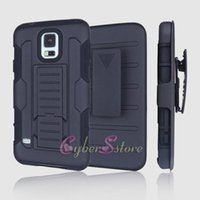 galaxy s4 active - For Galaxy S6 S5 S4 Active Mini Future Armor Impact Hybrid Hard Phone Case Cover with Belt Clip Kickstand Stand for Samsung G870 G870A