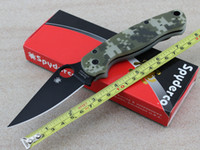 spyderco - New Spyderco C81 Paramilitary Folding Blade G10 Handle Scales Knife For Tactical Camping Best Gift Handle Tools
