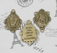 athena pendant - 60pcs Athena antique bronze virgin mary zinc alloy pendant charm drops for diy mm lead and nickle free