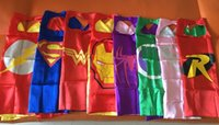 Wholesale Superhero cape CAPE MASK cm back Super Hero Costume for Children Halloween Party Costumes for Kids Children s Costume
