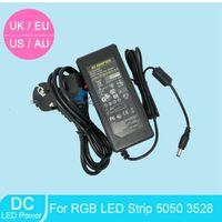 Wholesale 2pcs DC V A Power Supply Adapter Transformer For LED Light Ribbon Tape EU UK AU US Cord Plug Socket NEW