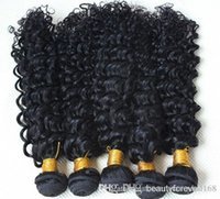 Cheap Hot Sale Malaysian Human Hair Extensions 3pcs Dyeable Curly Wefts 6A Unprocessed Virgin Hair Kinky Curly Hair Natural Color Free Shipping