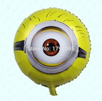 festa minions 50pcs / lot 18inch feuille Minion baloon Balloon Despicable Me 2 ballons pour moi méprisables party supplies