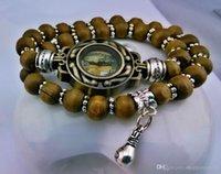 Wholesale Europe Quartz Fashion Weave Alloy wood beads Bracelet Watches handmade Pendants Unisex wrist watch Holiday gifts