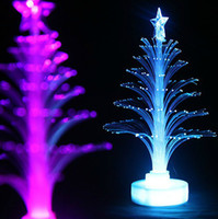 fiber optic flowers - 12cm Christmas tree fiber optic light colorful light emitting the flowers three dimensional christmas tree decoration gift