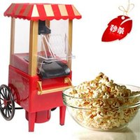 air pop corn maker - 1Pcs DIY mini carriage shape nostalgic hot air popcorn machine poper pop corn maker with EU plug red or pink color v v