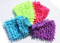 Wholesale Free DHL Double sided chenille glove wash universal convenient use cleaning cloth towel microfiber gloves for cleaning car