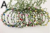alexandrite photos - Bohemian national wind garlands seaside holiday photo props beach flower garland hair band Headwear Hair Accessories