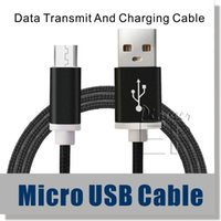 cable connector - Micro USB Cable Nylon Braided ft Cable High Speed USB A Male to Micro B Aluminum Shell Connectors for Samsung S4 S5 S6 Note Cable