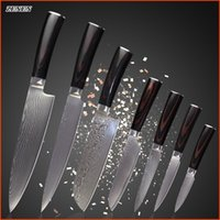 chefs knives set - ZEMEN damascus knives set inch chef slicing inch santoku quot quot quot utility quot paring knife kitchen knives cooking tools