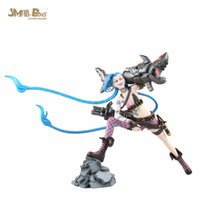 Wholesale 2015 Brand New classic Game League Of Legends LOL Jinx cm PVC Action Figure Gift box packaging collection Gift Toy