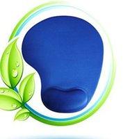 Wholesale Blue Wrist Comfort Mouse Mice Pad Mat MousePad With Foam Wrist Rest Support PC