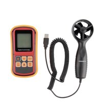 Wholesale Mini Digital handheld Wind speed meter scale Anemometer Thermometer GM816A