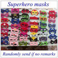 Wholesale 500pcs Superhero masks Batman Spiderman Hulk Thor TMNT Ninja Transformer Bumblebee mask Halloween Party Supplies for Kids DHL free