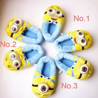 plush slippers - Retail quot Minions Plush Stuffed Slippers Despicable Me Cuddly Fluffy Collectible Kevin Bob Stewart Home Indoor Slippers Christmas Gift