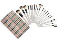 Wholesale 20 sets of animal hair wool brush brush checkered bag makeup brush sets