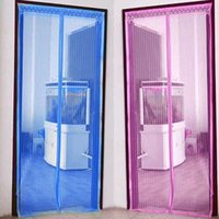 bamboo curtain - 2015 new Summer Mosquito Curtain Portiere Screen Door Magnetic Magnet Stripe Magic mesh CM HD0083