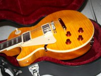 left hand electric guitar - Custom Shop Left Handed Electric Guitar Yellow From China