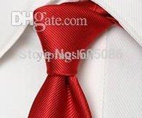 Precio de Venta al por mayor corbata roja-Los hombres rojos al por mayor-poliéster adelgazan los lazos del cuello