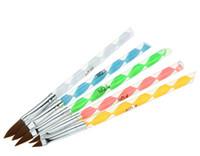 Wholesale Make up Sets Acrylic Nail Art Pen Makeup Set Dotting Tool Brush Garving Pens Colorful Nail Art Salon Brushes Tools UV Builder Painting