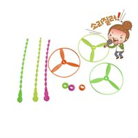 Wholesale Hand flying leaves kids toys Bamboo dragonfly fly children toys outdoors Flywheel toys